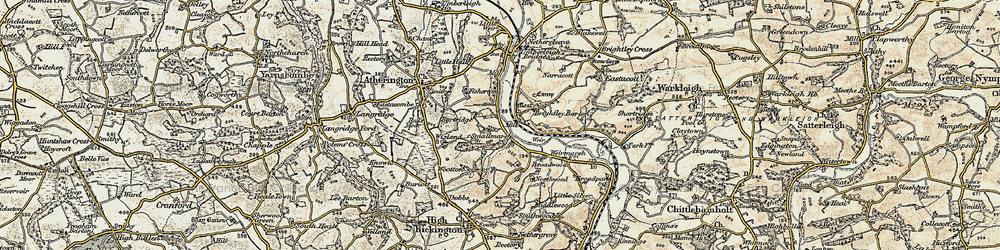 Old map of Wixland in 1899-1900