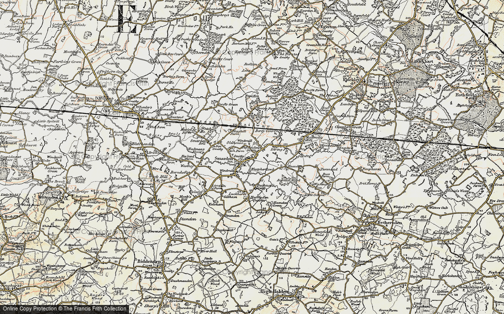 Old Map of Smarden, 1897-1898 in 1897-1898