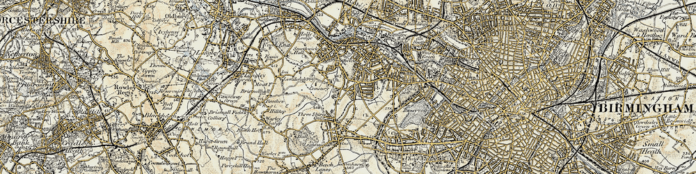 Old map of Smethwick in 1902