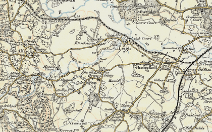Old map of Leigh Brook in 1899-1901