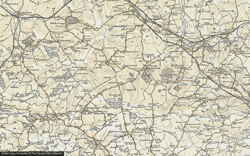 Old Map of Historic Map covering Latchley's Fm in 1898-1901