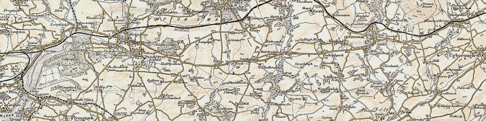 Old map of West Pitten in 1899-1900