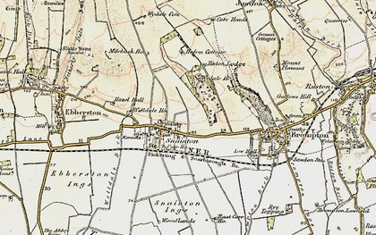 Old map of Snainton in 1903-1904