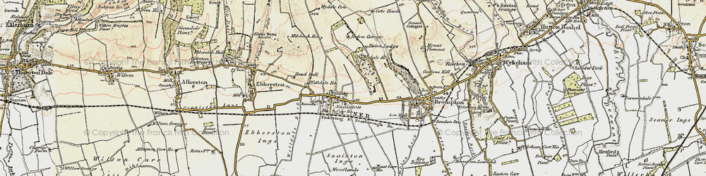Old map of Wydale Hall in 1903-1904