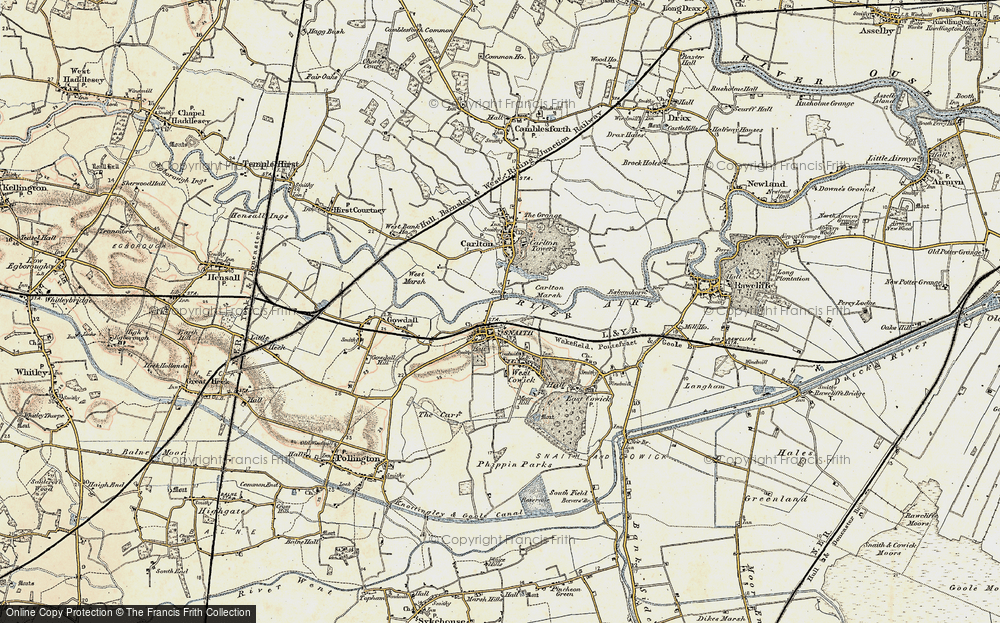 Old Map of Snaith, 1903 in 1903