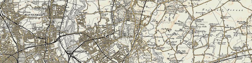 Old map of Snaresbrook in 1897-1898