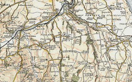 Old map of Laund Ho in 1903-1904