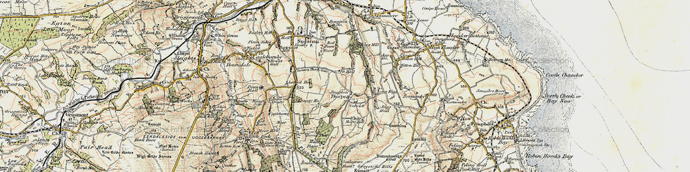 Old map of White Moor Mill in 1903-1904