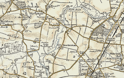 Old map of Linger Hill in 1901