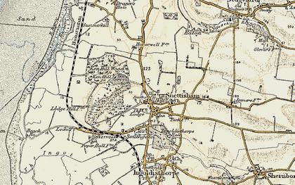 Old map of Snettisham in 1901-1902