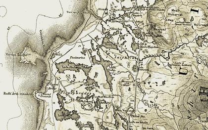 Old map of Abhainn Gheatraidh in 1911