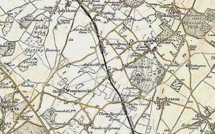 Old map of Ackholt in 1898-1899