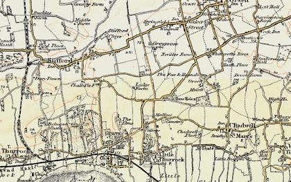 Old map of Socketts Heath in 1897-1898