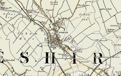 Old map of Soham in 1901