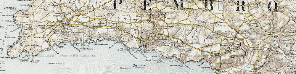 Old map of Solva in 0-1912