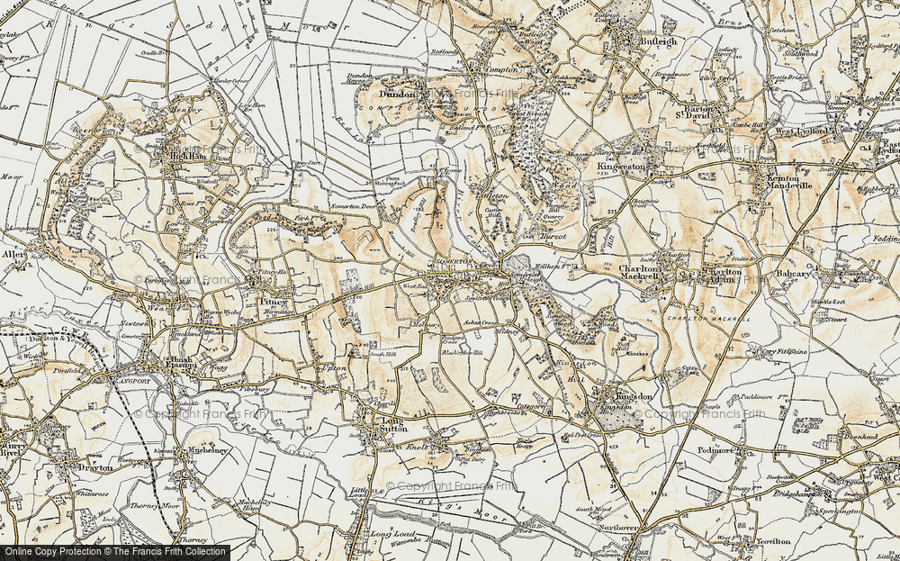 Old Map of Historic Map covering Badger's Cross in 1898-1900