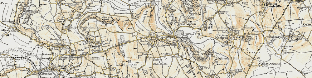 Old map of Somerton in 1898-1900