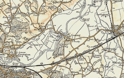 Old map of Sonning in 1897-1909