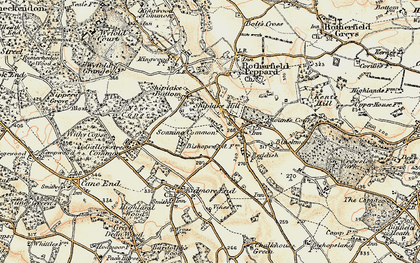 Old map of Sonning Common in 1897-1900
