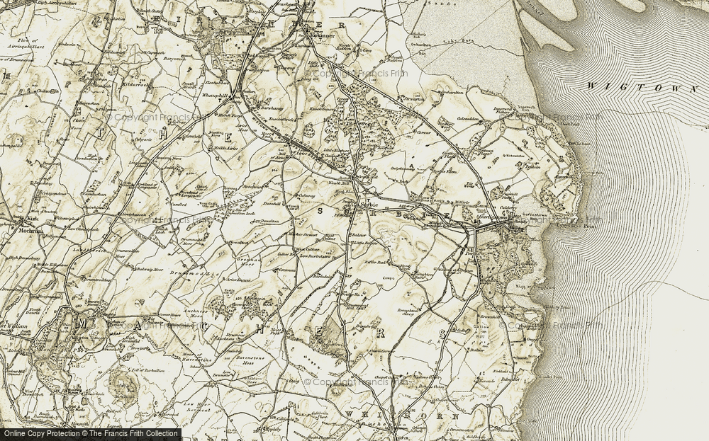 Old Map of Historic Map covering Balsier in 1905