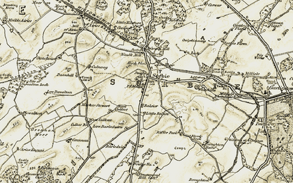 Old map of Whitehills in 1905