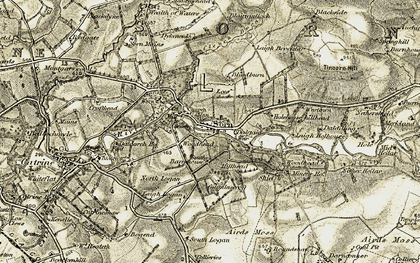 Old map of Westtown in 1904-1905