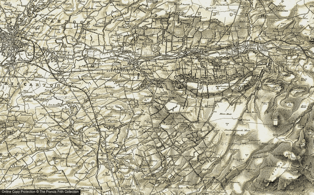 Old Map of Historic Map covering Langside in 1904-1905