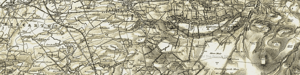 Old map of Tongue in 1904-1905