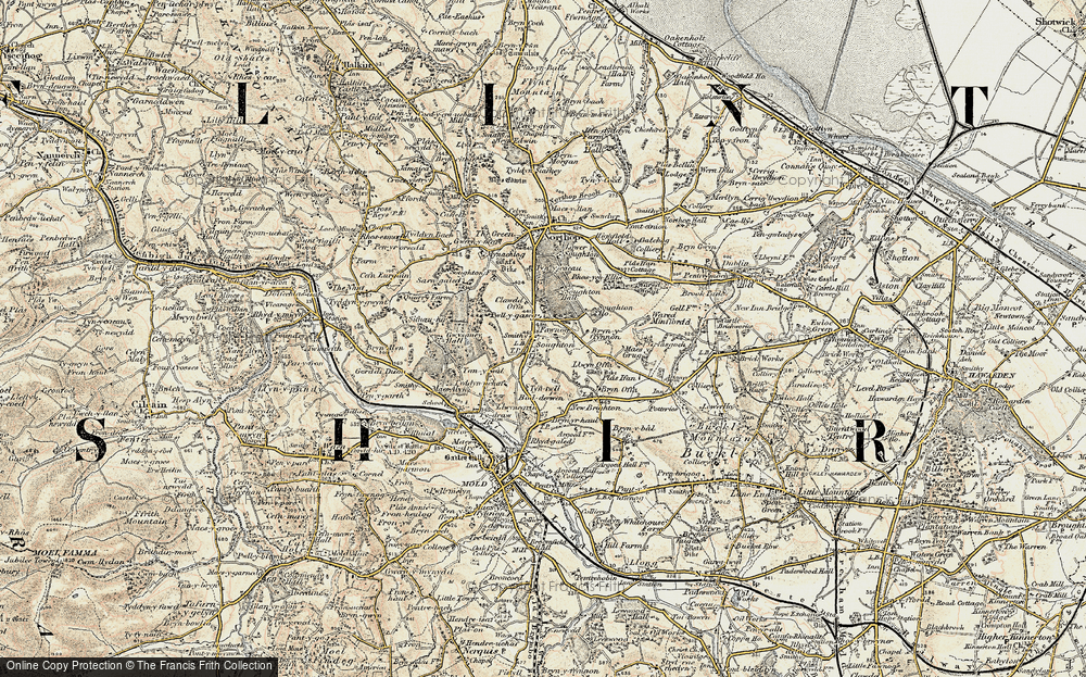 Old Map of Historic Map covering Laurels, The in 1902-1903