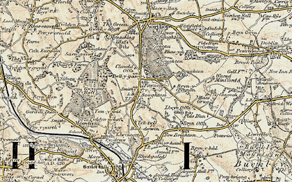 Old map of Soughton in 1902-1903