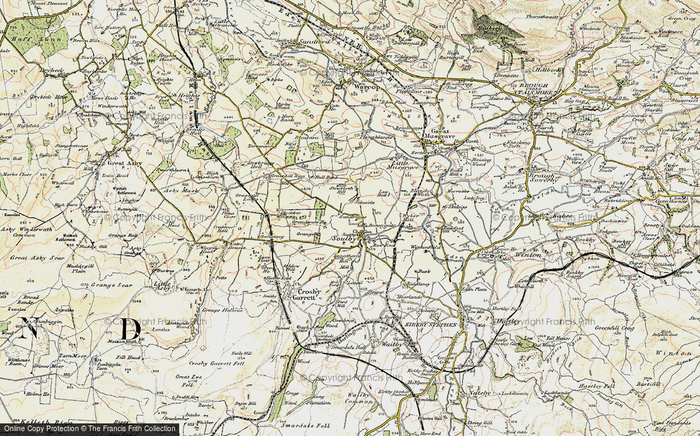 Old Map of Historic Map covering Linehams in 1903-1904