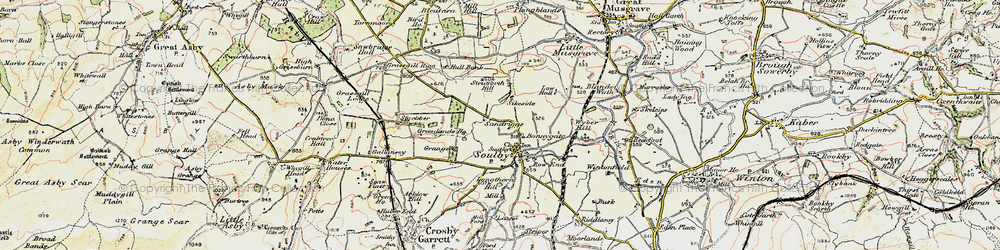 Old map of Wyber Hill in 1903-1904