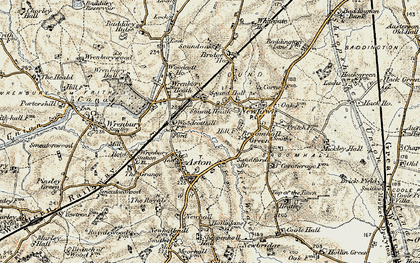 Old map of Woodcott Ho in 1902