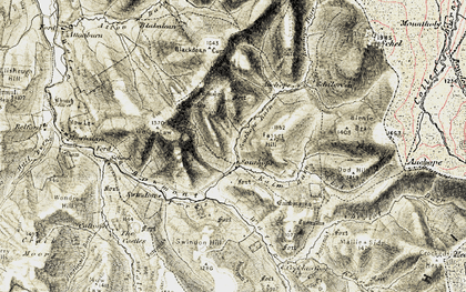 Old map of Atton Burn in 1901-1904