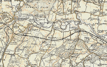 Old map of Ambersham Common in 1897-1900