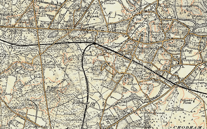 Old map of South Ascot in 1897-1909