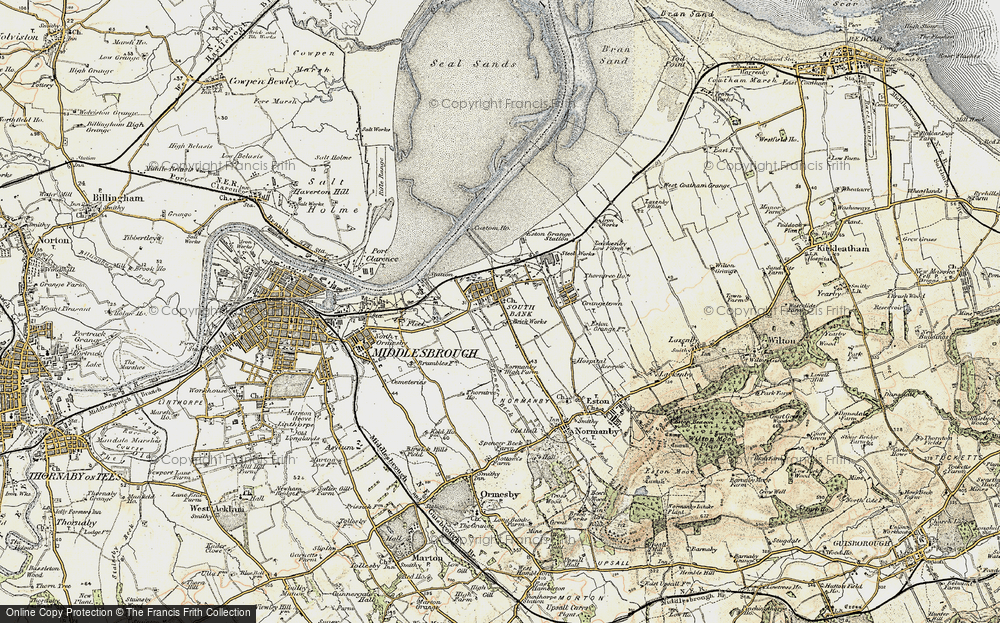 Old Map of Historic Map covering Yorkshire in 1903-1904