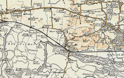 Old map of South Benfleet in 1898