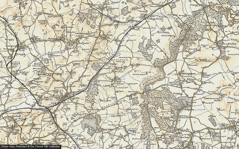 Old Map of Historic Map covering Alfred's Tower in 1897-1899