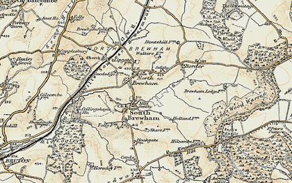 Old map of Alfred's Tower in 1897-1899