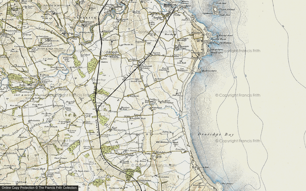 Old Map of South Broomhill, 1901-1903 in 1901-1903