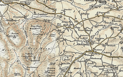 Old map of South Carne in 1900