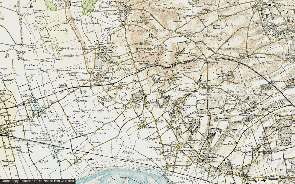 Old Map of South Cave, 1903-1908 in 1903-1908