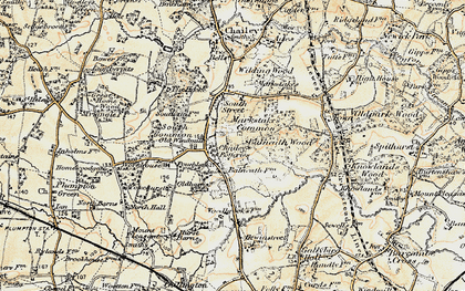 Old map of Balneath Wood in 1898