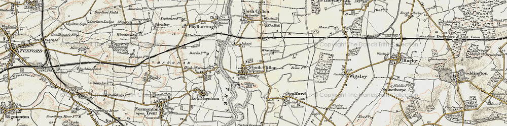 Old map of Wheatholme in 1902-1903