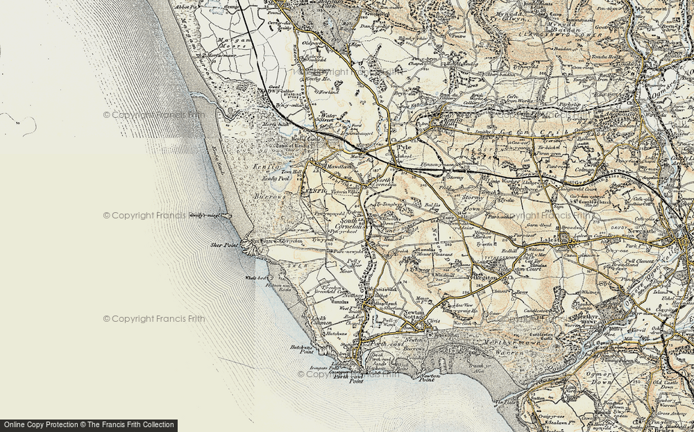 Old Map of South Cornelly, 1900-1901 in 1900-1901