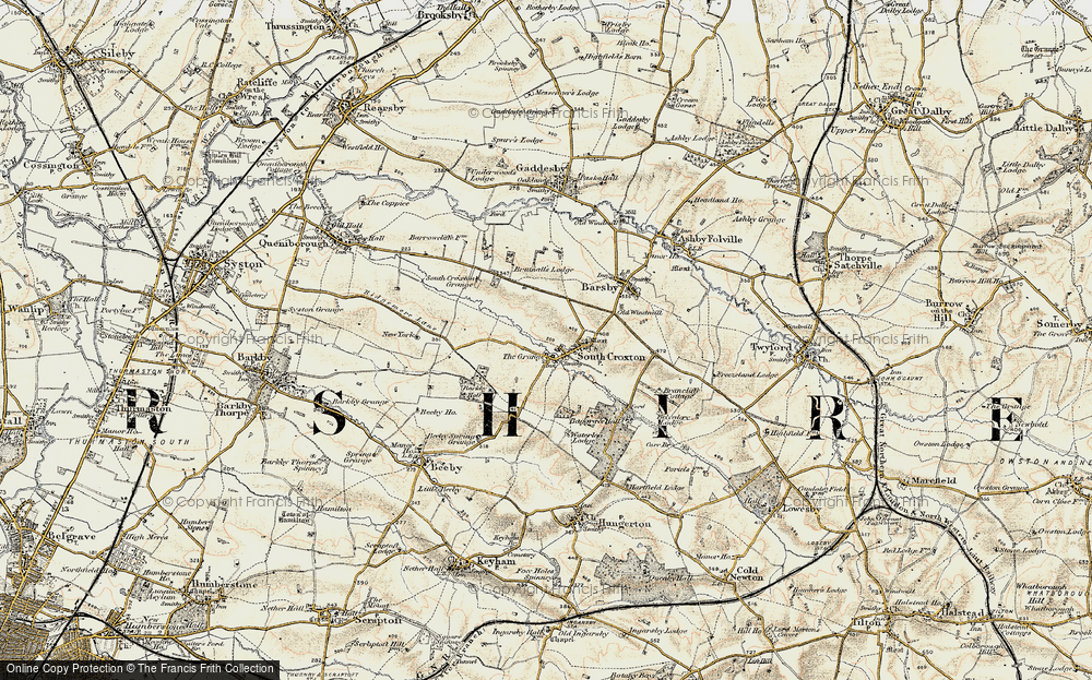 Old Map of Historic Map covering Barkby Holt in 1902-1903