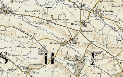 Old map of Barkby Holt in 1902-1903