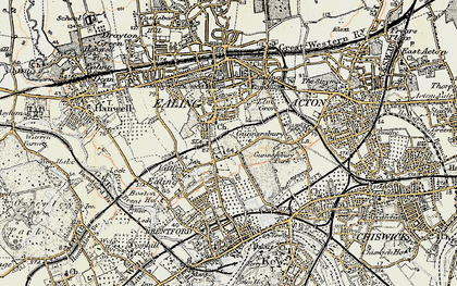 Old map of South Ealing in 1897-1909