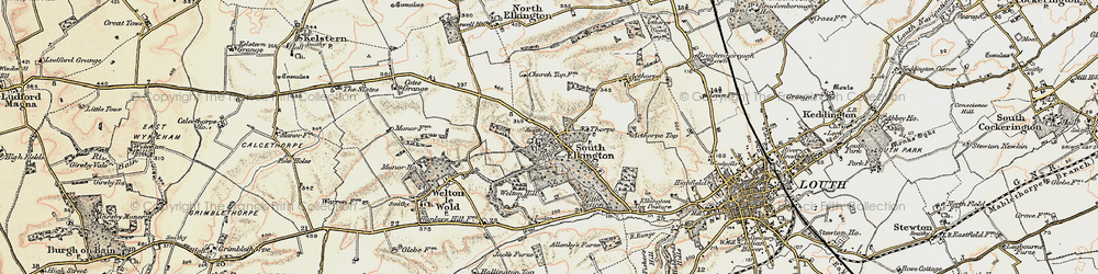 Old map of Ackthorpe Village in 1903